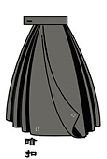 The skirt of the Hanfu Uniform proposal.