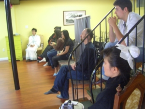 Listening. Note that half of the attendees were in Hanfu.