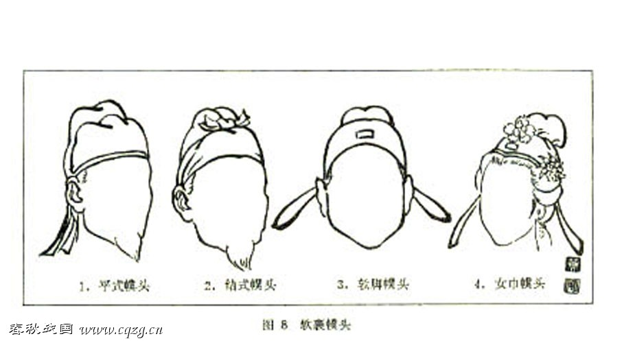 a list of guan  jin  and other headwear